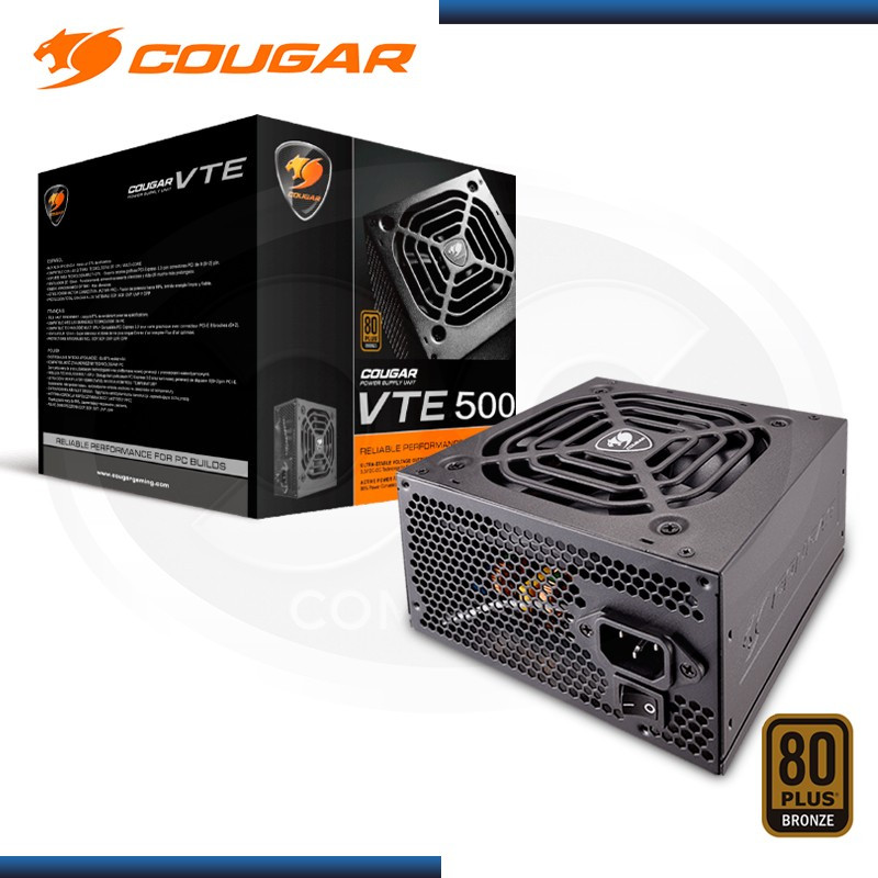 FUENTE COUGAR VTE500 PSU 500W 80PLUS BRONZE (PN:CGR BS-500)