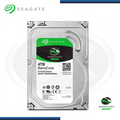 DISCO DURO SEAGATE BARRACUDA 4TB SATA3 6GB/s / 256MB / 5400 RPM (MOD: ST4000DM004 )