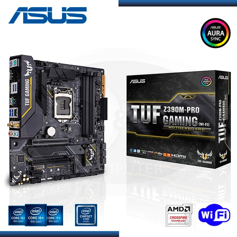 MB ASUS TUF Z390M-PRO GAMING WI-FI DDR4 LGA1151 (PN:90MB0Y00-M0AAY0)