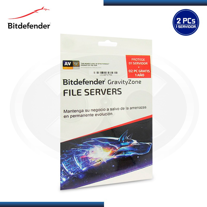 BITDEFENDER GRAVITY ZONE FILE SERVER 1 SERVIDOR + 2 PCs