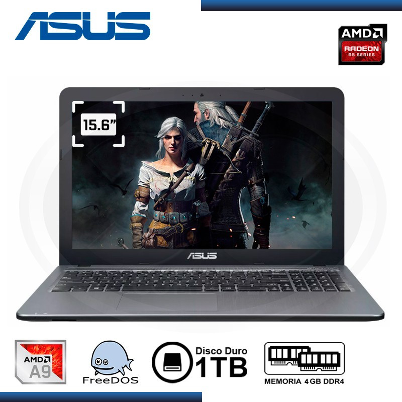 "NOTEBOOK ASUS X540BP-G0062 A9-9425 15.6"" /1TB/4GB/AMD R5 2GB/FREEDOS"