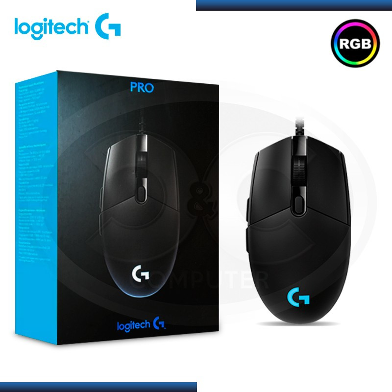 MOUSE LOGITECH G PRO GAMING LED RGB GAMING USB (PN:910-005439)
