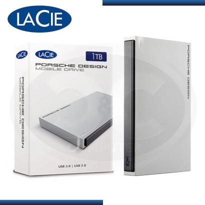 """DISCO DURO 1TB EXTERNO LACIE POSSCHE DESIGN MOBILE 2.5"""" USB 3.0 CABLE TIPO C"""