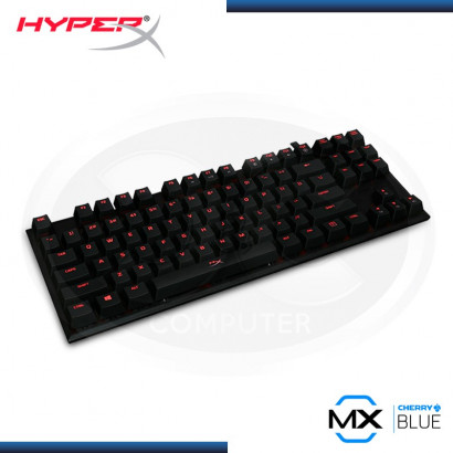 TECLADO GAMER HYPERX ALLOY  FPS PRO CHERRY MX BLUE, MECÁNICO, ILUMINACION RED USB (PN: HX-KB4BL1-US/WW )