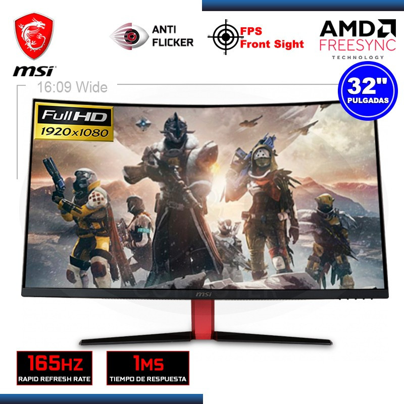 "MONITOR LED 32"" MSI OPTIX AG32C GAMING CURVO 1920x1080 DVI HDMI DP 1MS/165Hz"