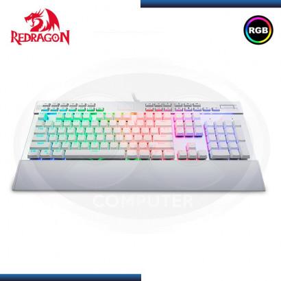 TECLADO GAMER REDRAGON YAMA K550 WHITE MECÁNICO, RGB, TECLAS MACRO, ESPAÑOL (N/P K550W-SP )