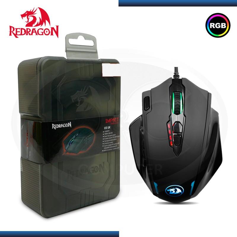 MOUSE REDRAGON M908 IMPACT MMO RGB 12,400 DPI USB