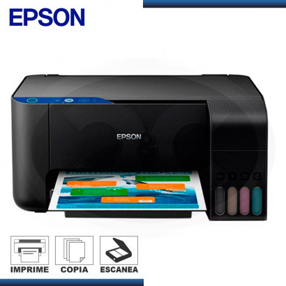 IMPRESORA MULTIFUNCIONAL EPSON L3110 IMPRESORA / ESCANER / COPIA C/ SISTEMA CONTINUO (PN: C11CG87303)