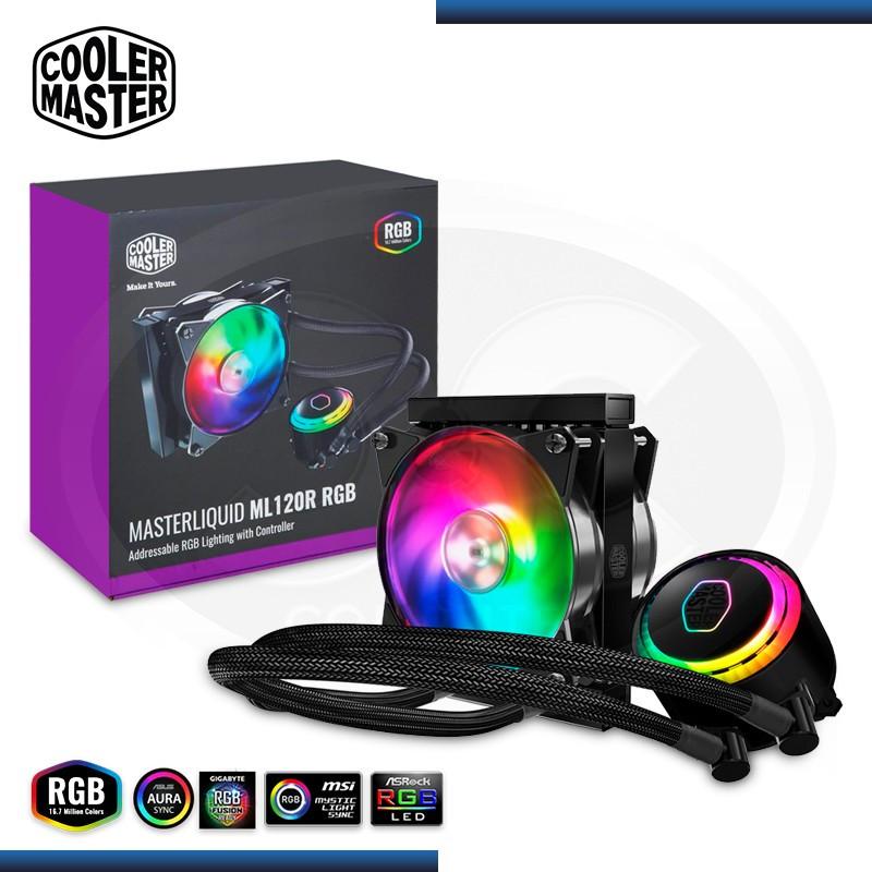 COOLER CPU COOLER MASTER MASTERLIQUID ML120R RGB REFRIGERACION LIQUIDO AMD/INTEL (PN:MLX-D12M-A20PC-R1)