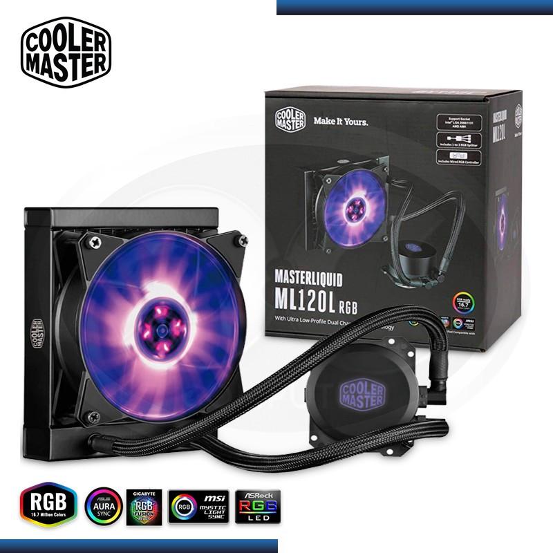 COOLER MASTER MASTERLIQUID ML120L RGB SISTEMA DE ENFRIAMIENTO LIQUIDO (PN:MLW-D12M-A20PC-R1)