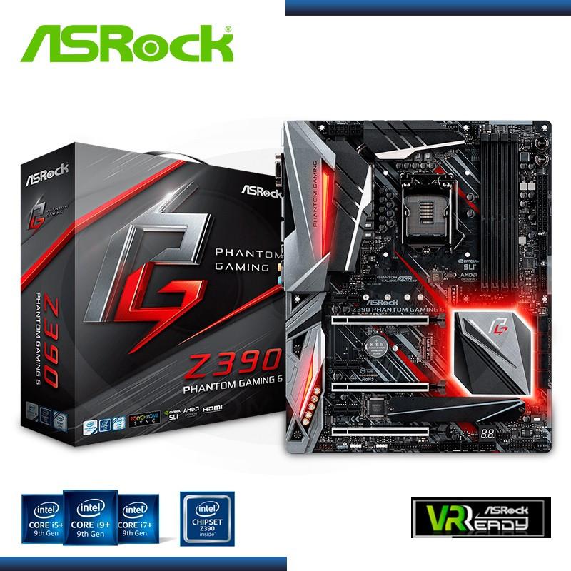 MB ASROCK Z390 PHANTOM GAMING 6 DDR4 LGA 1151 (PN:90-MXB900-A0UAYZ)