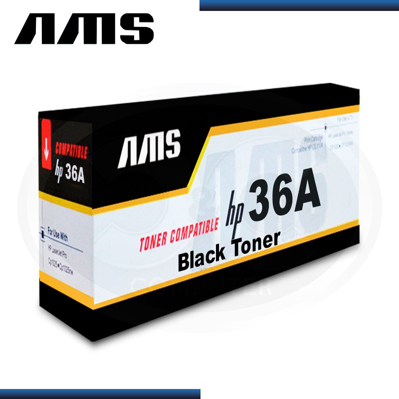 TONER AMS COMPATIBLE HP 36A BLACK CB436A