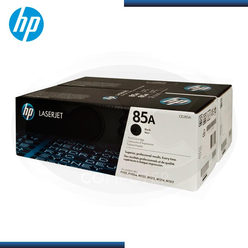 TONER HP LASERJET 85A NEGRO DUAL PACK CE285AD