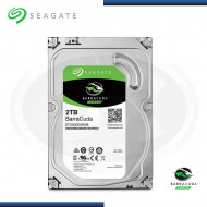 "DISCO DURO SEAGATE BARRACUDA 2TB | SATA3 6GB/s | 256MB | 7200rpm | 220MB/s | 3.5"" (MOD: ST2000DM008 )"