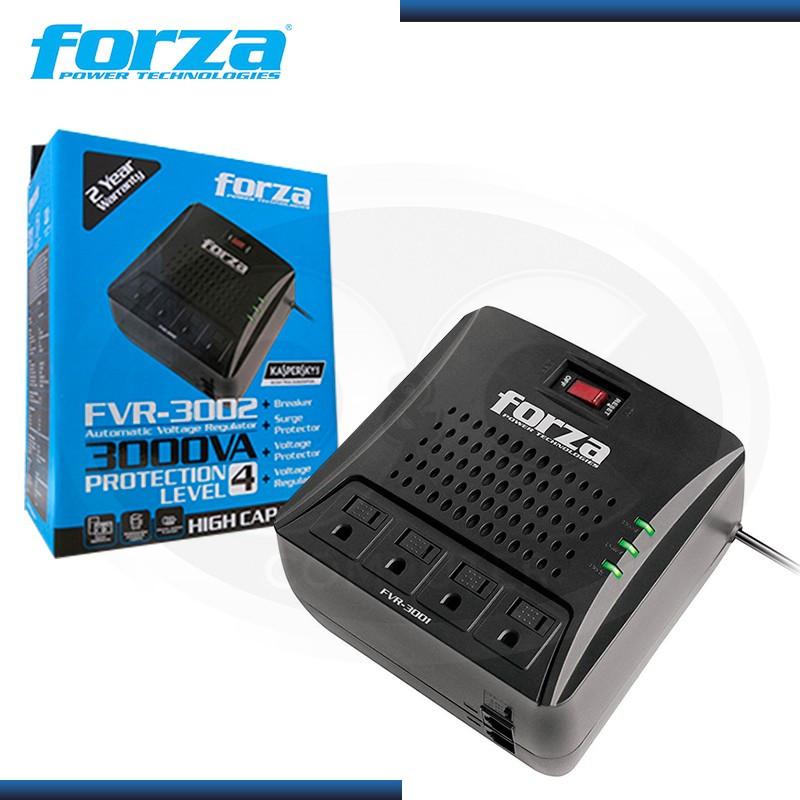 FORZA FVR-3002 ESTABILIZADOR 3000VA 4 TOMAS BLACK