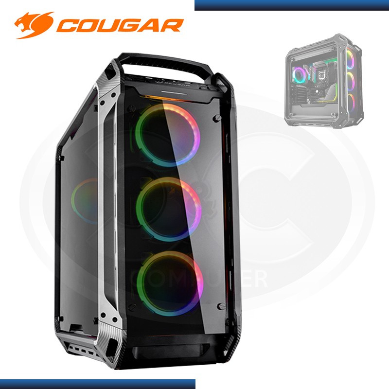 CASE COUGAR PANZER EVO RGB SIN FUENTE MID TOWER TEMPERED GLASS USB 3.1/USB 3.0 (PN:106AMT0003-02)