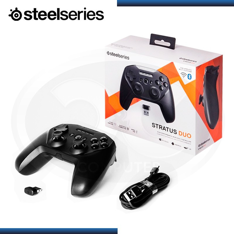 GAMEPAD STEELSERIES STRATUS DUO INALAMBRICO BLUETOOTH BLACK USB (PN:GC-00005)