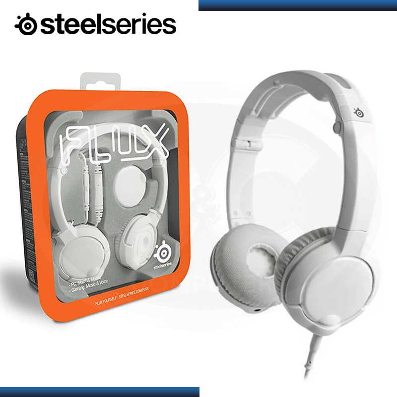 AUDIFONO STEELSERIES FLUX GAMING CON MICROFONO WHITE (PN:61279)