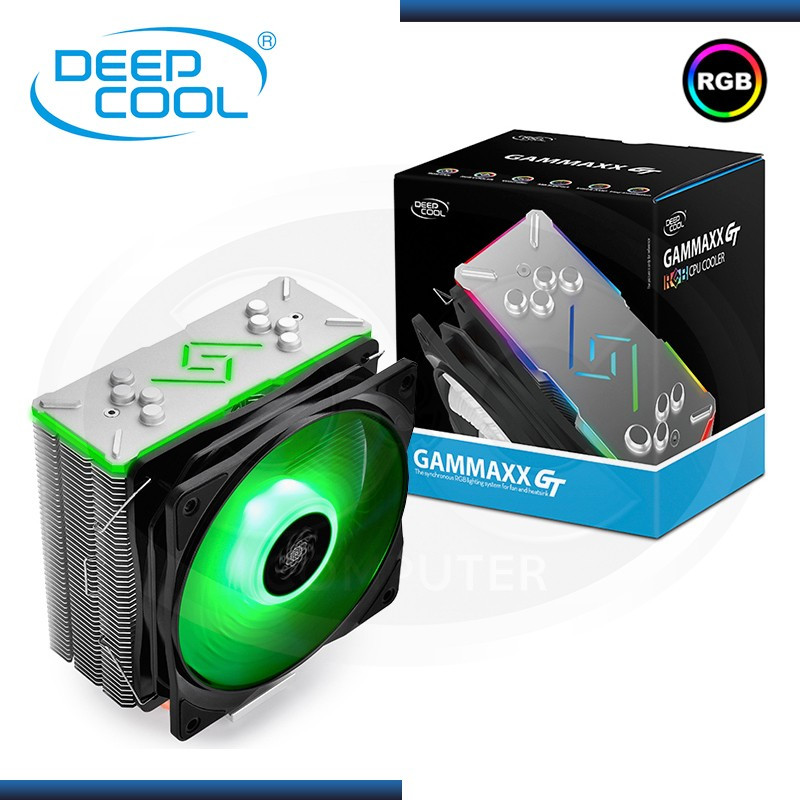 COOLER CPU DEEPCOOL GAMMAXX GT RGB AMD/INTEL REFRIGERACION AIRE (PN:DP-MCH4-GMX-RGB-GT)