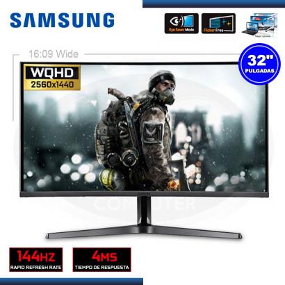 "MONITOR LED 32"" SAMSUNG LC32JG50QQLXPE CURVO WQHD 2560x1440 / 144Hz / 4MS / HDMI/DP  (G.SAMSUNG 080077708)"