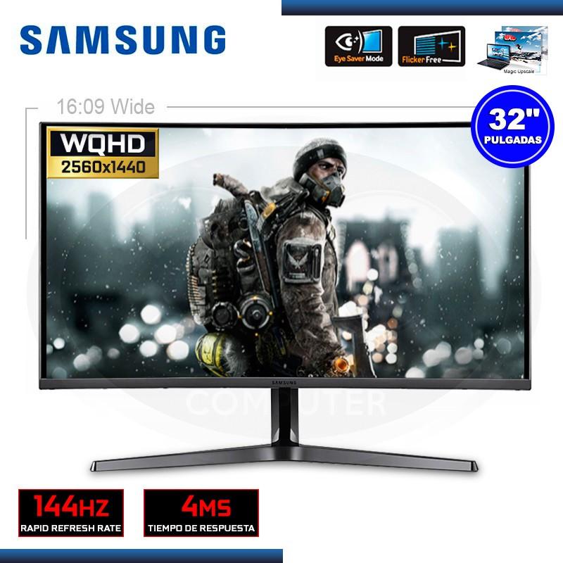"MONITOR LED 32"" SAMSUNG LC32JG50QQLXPE CURVO WQHD 2560x1440 HDMI/DP"