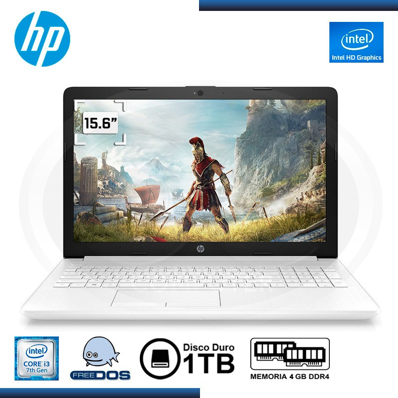 "NOTEBOOK HP 15-DA0008LA INTEL CI3-7020U 15.6"" 4GB 1TB FREEDOS"