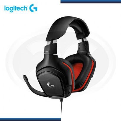 AUDIFONO C/MICRO LOGITECH G332 BLACK/RED P/ XBOX ONE, NINTENDO, PC | JACK 3.5 mm (PN 981-000755 )