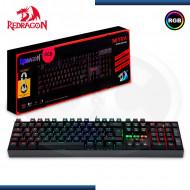 TECLADO GAMER REDRAGON MITRA K551-RGB BLACK | MECANICO SWITCH BLUE | RETROILUMINACION RGB ESPAÑOL (N/P K552-SP )