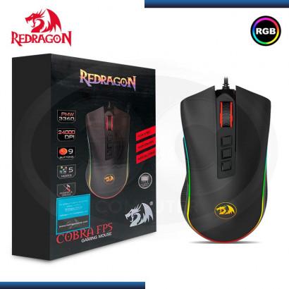 MOUSE OPTICO GAMING REDRAGON COBRA M711-FPS RGB   24000DPI   9 BOTONES (8 PROGRAMABLES)   USB