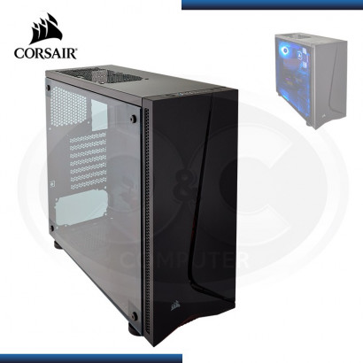 CASE CORSAIR CARBIDE SPEC-05 SIN FUENTE BLACK / PANEL ACRILICO / FAN LED RED (PN: 9011138-WW )