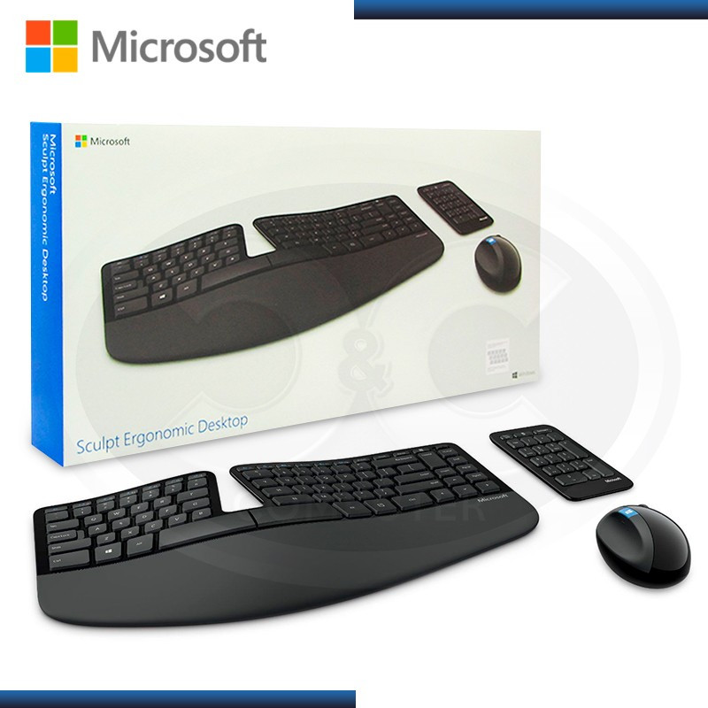 KIT MICROSOFT WIRELESS SCULPT ERGONOMIC TECLADO + MOUSE (PN:L5V-00004)