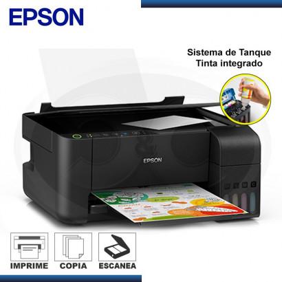 MULTIFUNCIONAL DE TINTA EPSON ECOTANK L3150, IMPRIME/ESCANEA/COPIA, WI-FI / USB. (N/P:C11CG86303)