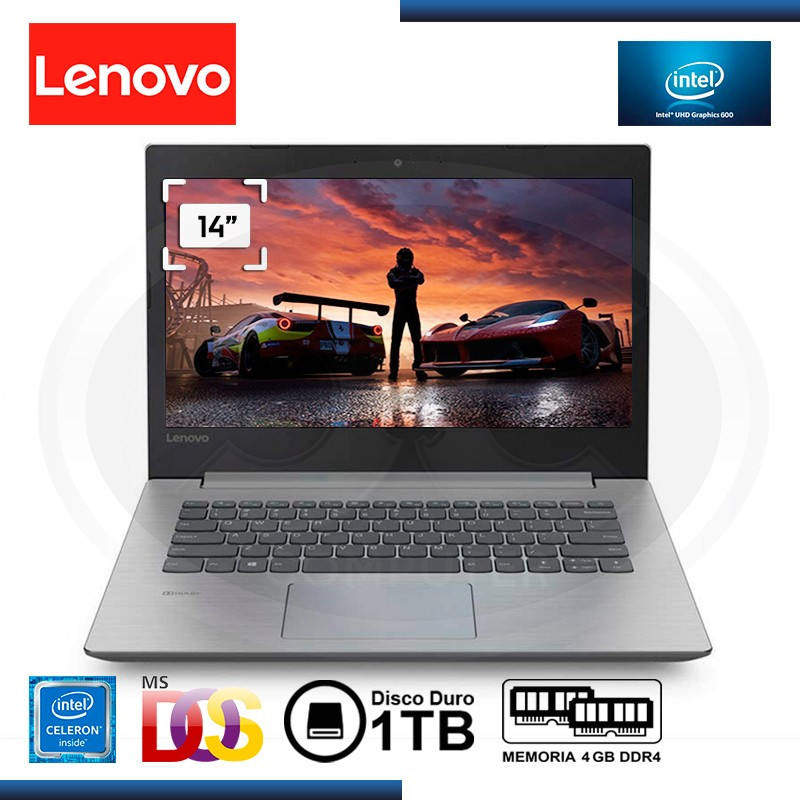 "NOTEBOOK LENOVO IDEAPAD 330-14IGM CELERON N4000 1.1GHz 14"" 4GB 1TB FREEDOS (PN:81D00018LM)"