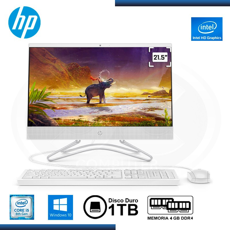 "ALL IN ONE HP 22-C020LA CI5-8250U 21.5"" 4GB 1TB W10 HOME"