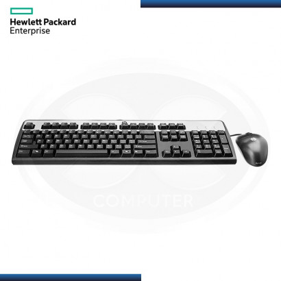 KIT HP ENTREPRISE TECLADO ESTANDAR + MOUSE USB | BLACK | 1.8 MTS (N/P: 631341-B21 )