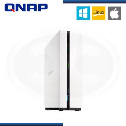 ALMACENAMIENTO NAS QNAP TS-128A QUAD-CORE | 1GB DDR4 | SATA III | RJ45 | BAHIA x1 | WHITE
