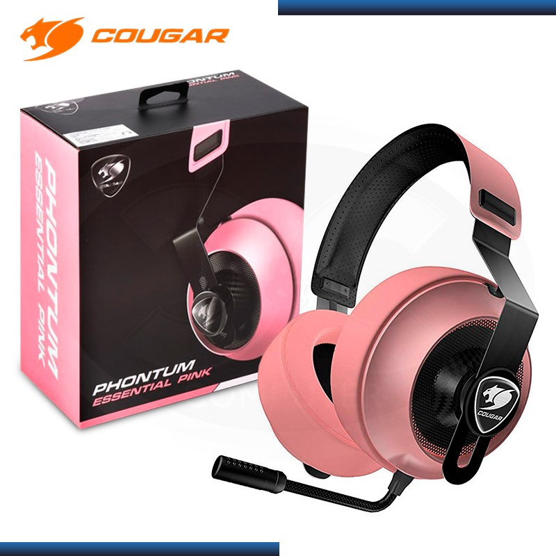 AUDIFONO COUGAR PHONTUM GAMING ESSENTIAL CON MICROFONO BLACK PINK (PN:CGR-P40NP-150)