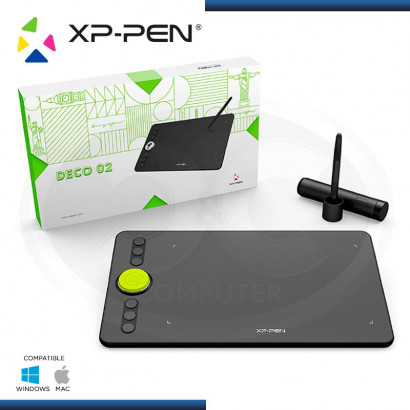 "TABLETA GRAFICA XP-PEN DECO 02 USB-C ÁREA ACTIVA 10"" X 5.63"""