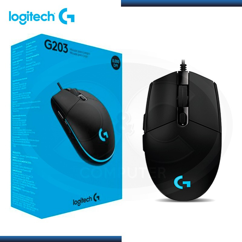 MOUSE LOGITECH  PRODIGY G203 OPTICAL GAMING USB BLACK (PN:910-004843)