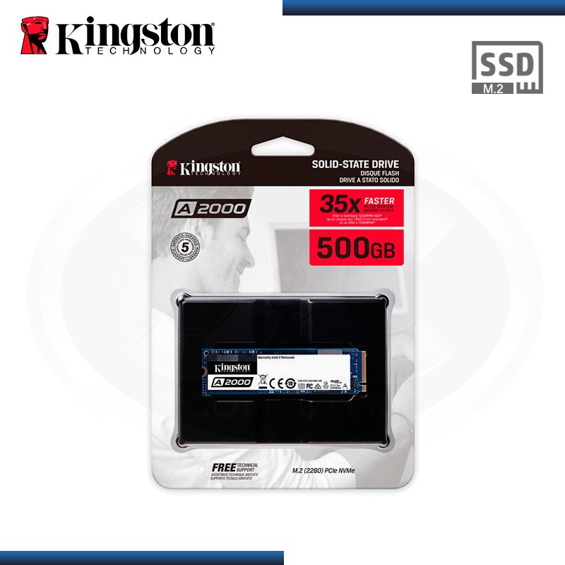 SSD 500GB KINGSTON A2000 M.2 2280 NVMe PCIE (PN:SA2000M8/500G)
