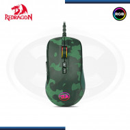 KIT GAMING REDRAGON S108 TECLADO MECANICO SWITCH RED | MOUSE | RETROILUMINACION RGB | CAMUFLADO | GREEN (N/P:S108)