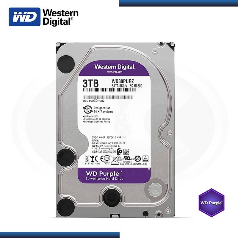 DISCO DURO 3TB WD PURPURA SATA 6GB/s (PN:WD30PURZ)