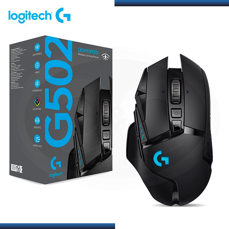 MOUSE LOGITECH G502 WIRELESS GAMING LIGHTSPEED BLACK (PN:910-005565)