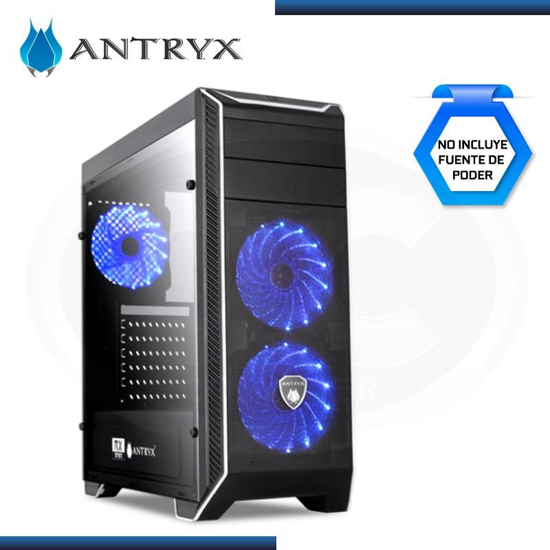 CASE ANTRYX RX-380 BLACK CON VENTANA SIN FUENTE USB 3.0/USB 2.0 (PN:AC-RX380S-W3FLB)