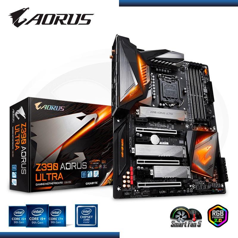 MB AORUS Z390 ULTRA DDR4 LGA 1151 RGB 2.0 - NOVENA GENERACIÓN