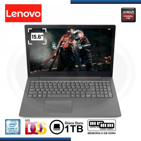 """NOTEBOOK LENOVO V330-15IKB CI7-8550U 1.8GHZ   8GB   1TB   2GB RADEON 530 DDR5 I 15.6""""   FREEDOS (PN: 81AX000RLM ) GTIA. LA MARCA"""