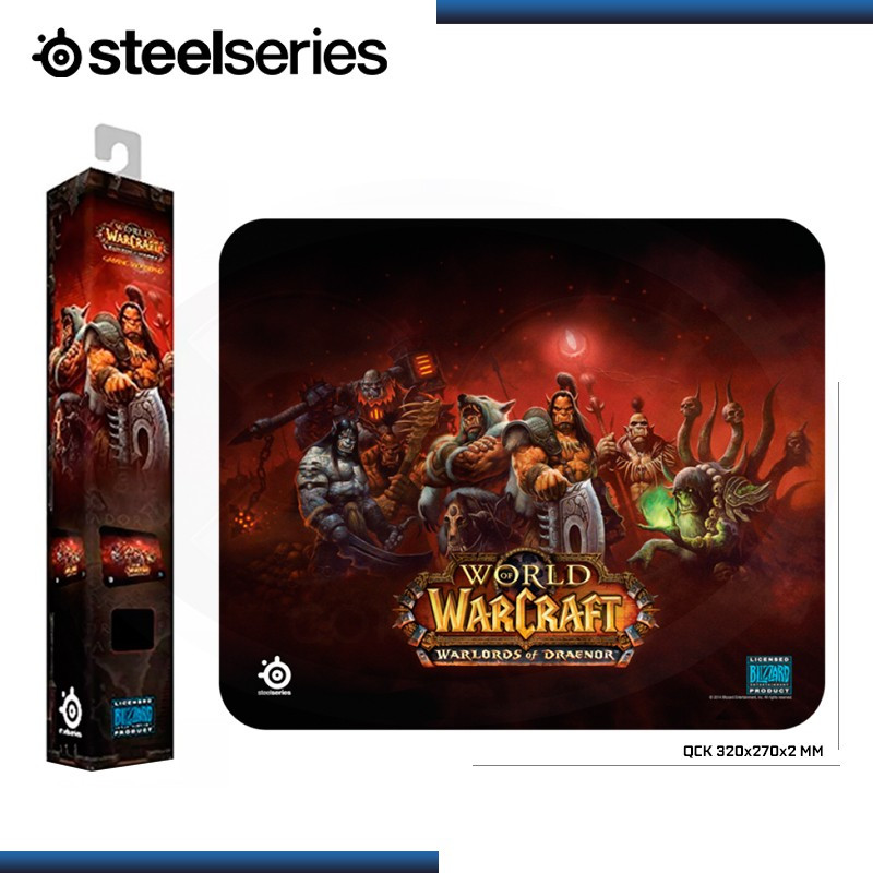 PAD MOUSE STEELSERIES QCK WARLORDS OF DRAENOR EDITION GAMING 320x270x2mm (PN:67294)
