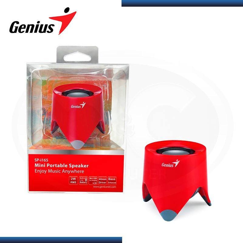 PARLANTE GENIUS SP-I165 PORTATIL ROJO USB RMS 2 WATTS