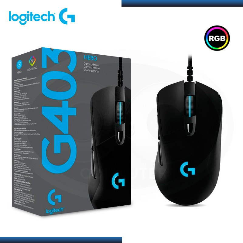 MOUSE LOGITECH G403 HERO GAMING BLACK (PN:910-005630)