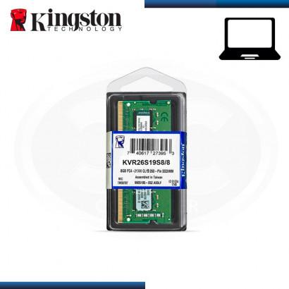 MEMORIA SODIMM KINGSTON KVR DDR4 8GB BUS 2666 MHz  (N/P KVR26S19S8/8 )